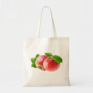 Zwei rote Äpfel Tragetasche