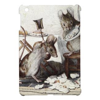 Zwei schlechte Mäuse zertrümmern das Geschirr Hülle Für iPad Mini