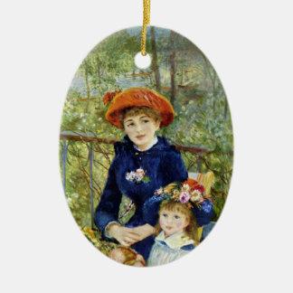 Zwei Schwestern (auf der Terrasse) durch Pierre Keramik Ornament