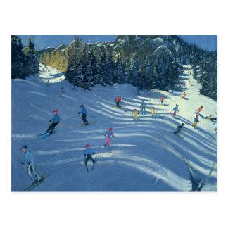 Zwei Ski-Steigungen 2004 Postkarte
