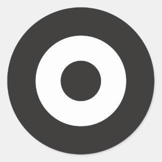 Zwei Ton-Mod-runder Aufkleber