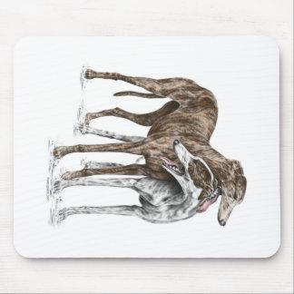 Zwei Windhund-Freund-Hundekunst Mousepad