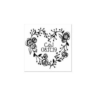 Zweig-Beeren-und Rosen-HerzWreath Wedding | Gummistempel