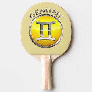 Zwillings-Symbol Tischtennis Schläger