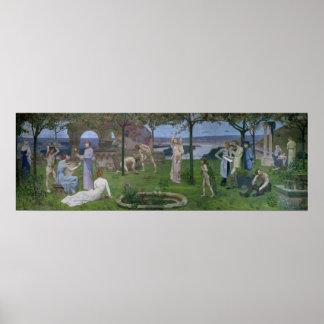 Zwischen Kunst und Natur 1890 Poster