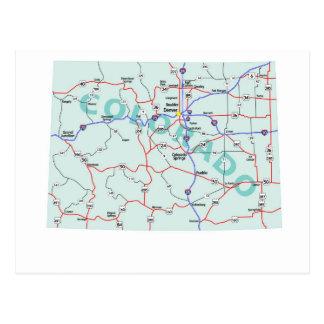Zwischenstaatliche Karten-Postkarte Colorados Postkarte