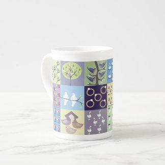Zwölf Tage der WeihnachtsTasse Porzellan-Tasse