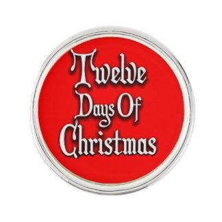 Zwölf Tage Weihnachten Anstecknadel
